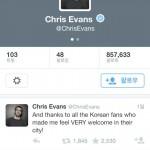 """朴元淳市长的希望日记——""""克里斯•埃文斯对韩国及首尔的谢意"""""""