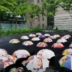 首尔市厅的雨伞造型物