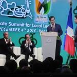 """朴元淳市长等人共同签署了温室气体减排合作协议""""巴黎宣言"""""""