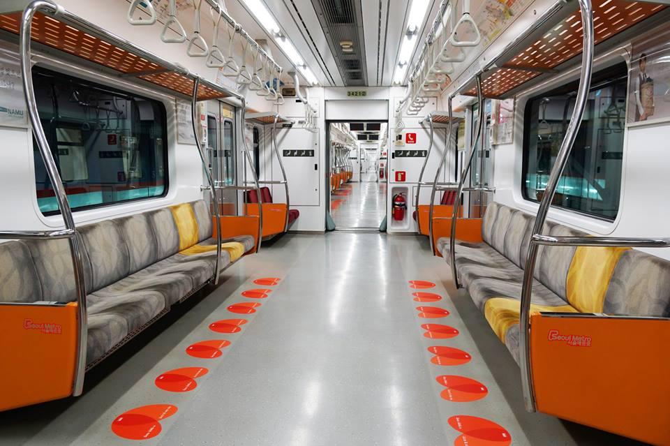 首尔地铁车箱