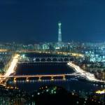 首尔美丽的夜景