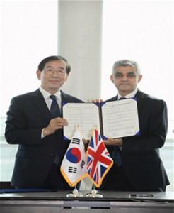 首尔、伦敦两位创新市长,正式签订政策交流协定