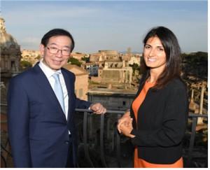 朴元淳市长与罗马市长携手推进政策合作