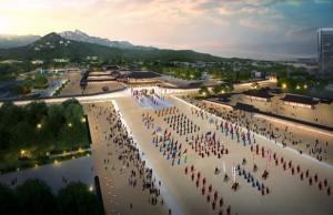 首尔市计划恢复光化门广场的历史性,将其拓宽为目前的3.7倍