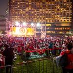 """""""2018俄罗斯世界杯""""首尔广场外国人街头助威战"""