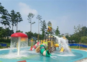 首尔市于中浪野营林公园打造市区水上乐园,8日正式开放