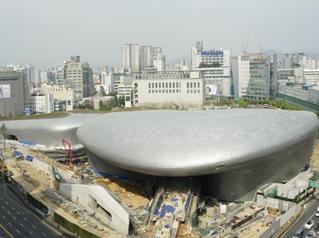 东大门设计广场(DDP) 3D俯视图