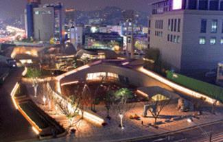 2009年10月开场的东大门历史文化公园夜景