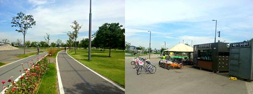 骑着单车看风景,盘浦汉江公园