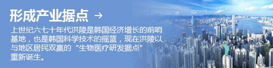 """形成产业据点 → 上世纪六七十年代洪陵是韩国经济增长的前哨基地,也是韩国科学技术的摇篮,现在洪陵以与地区居民双赢的""""生物医疗研发据点"""" 重新诞生。"""