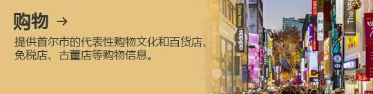 购物 → 提供首尔市的代表性购物文化和百货店、 免税店、古董店等购物信息。