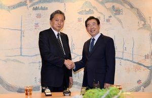 首尔市长朴元淳会见日本前首相鸠山由纪夫