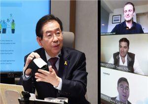 """首尔市长与全球领导者进行""""新型冠状病毒肺炎视频交流会"""" newsletter"""