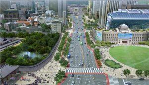 首尔市修建世宗大路全长1.5公里的代表步行街 newsletter
