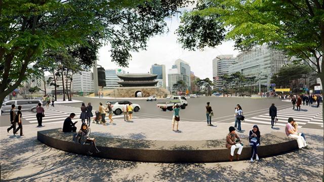 """在首尔市内打造以人为本的""""人森林道"""""""
