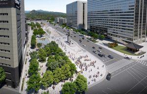 充分反映市民意见,打造适宜休闲散步的光化门广场
