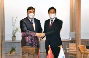 首尔市长吴世勋会见中国驻韩国大使邢海明
