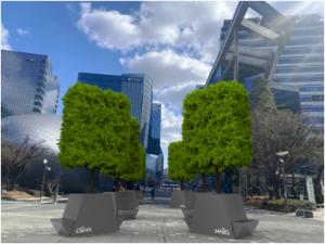 """首尔市追加建造8座""""移动公园"""",带来混凝土上的惊喜树荫"""