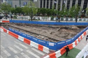 首尔市首次向市民开放光化门广场前的朝鲜时代遗址