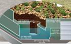 首尔市在清云中学屋顶试安装'绿化+雨水储存槽'