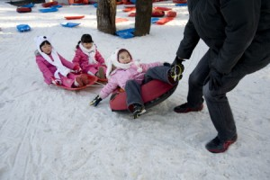 Sports- Ice skating, Sledding and Ssirum